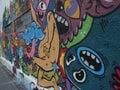 Graffiti street art in abandoned building in bucharest romania Stock Photos