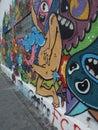 Graffiti street art in abandoned building in bucharest romania Stock Photo