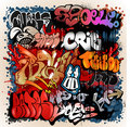 Graffiti street art vector elements collected isolated on light background Royalty Free Stock Photography