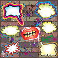 Graffiti Thought Bubbles Royalty Free Stock Image