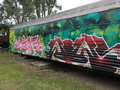 Graffiti train carriage sydney australia Royalty Free Stock Images