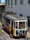 Graffiti tram Portugal Royalty Free Stock Images
