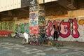 Graffiti in Vienna Royalty Free Stock Image