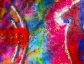 Graffiti on wall, abstract colorful background, graffiti wallpaper Royalty Free Stock Photo