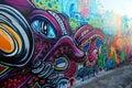 Graffiti wall in Australia Royalty Free Stock Photo