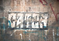 Graffiti on the wall inside an underpass tunnel Royalty Free Stock Photo