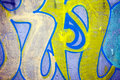 Graffiti wall nice highly detailed texture background Stock Images