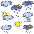 Graffito weather icon Stock Image