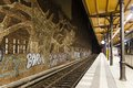 Graffitti in Savigny Platz Station in Berlin Royalty Free Stock Photo