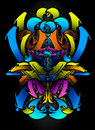 Graffitti sketch in vibrants colors Royalty Free Stock Photo