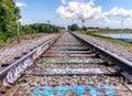 Tracks on the famous graffiti Bridge Royalty Free Stock Photo