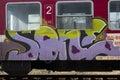 Graffity art train Royalty Free Stock Photo