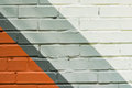 Graffity brick wall, very small detail. Abstract urban street art design close-up. Modern iconic urban culture, stylish