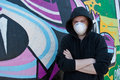 Graffity painter. Royalty Free Stock Photo