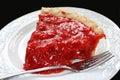Grafico a torta chiffon della fragola Immagini Stock