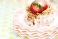 Grafico a torta congelato della fragola Immagini Stock
