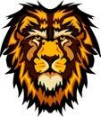 Grafiki kierowniczy wizerunku lwa maskotki wektor Obrazy Royalty Free
