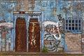 Grafitti on a old facade Stock Photography