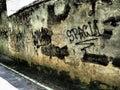 Grafitti on the wall Royalty Free Stock Photo