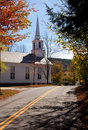 Grafton Church in Fall Stock Photo