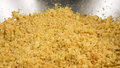 The graham cracker crust mix with melted butter Royalty Free Stock Photo