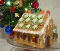 Graham Cracker House.  An alternative to gingerbread house Royalty Free Stock Photo