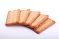 Graham crackers stack of over white Stock Photo