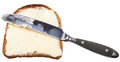 Grain bread and butter sandwich with table knife Royalty Free Stock Photo