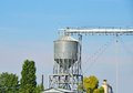 Grain dryer over blue sky background ukraine Stock Images