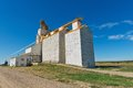 Grain elevator abandoned gull lake saskatchewan canada Stock Photography