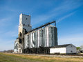 Grain Elevator and Bins with Blue Sky Royalty Free Stock Photo