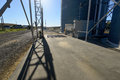 Grain Elevator Platform in Central Washington Royalty Free Stock Photo