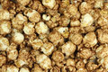 Grain popcorn brown  background Royalty Free Stock Photo