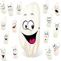 Grain of rice cartoon with many expressions Stock Photography