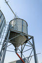 Grain silo loading structure metallic agriculture storage Stock Photos