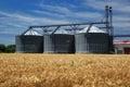 Grain silos Royalty Free Stock Photo