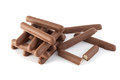 Grain sticks in glaze chocolate Stock Image