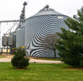 Grain storage bin in rural wisconsin Stock Photo