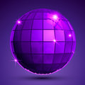 Grained plastic purple flash globe, geometric