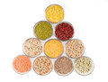 Grains pulses and beans Royalty Free Stock Image