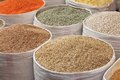 Grains for sale at the market Stock Photography