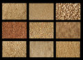 Grains textures Royalty Free Stock Photo