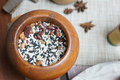 Grains a variety of traditional chinese can be used to porridge Stock Photo