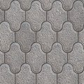 Grainy paving slabs seamless tileable texture consisting of combined hexagons Stock Images