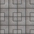 Grainy Paving Slabs. Seamless Tileable Texture. Royalty Free Stock Photo