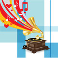 Gramophone with music love concept Royalty Free Stock Photo