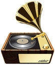 Gramophone phonograph isolated illustration eps Royalty Free Stock Photo
