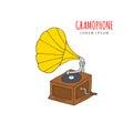 Gramophone vector illustration