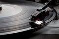Gramophone Vinyl music record retro player Royalty Free Stock Photo