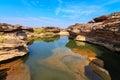 Gran cañón de la sam cacerola bok el sorprender de la roca en el río mekong ubonr Imagen de archivo libre de regalías